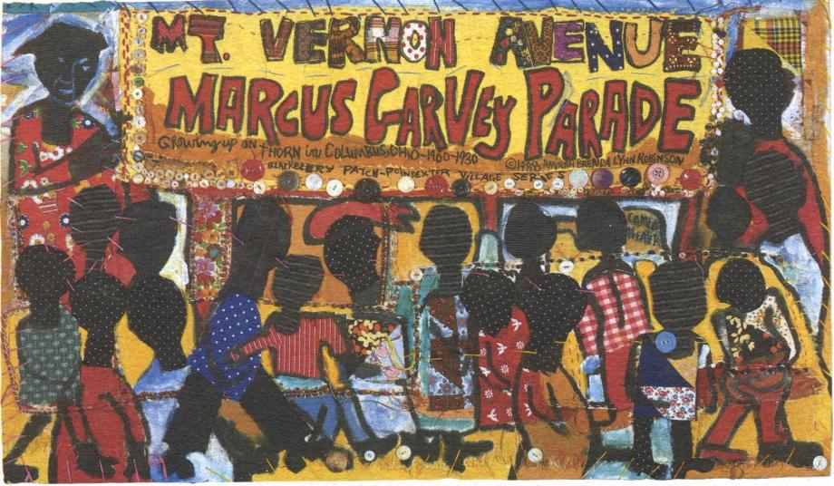 marcus garvey parade, aminah robinson, black history, columbus, ohio, ohio black expo, black history month